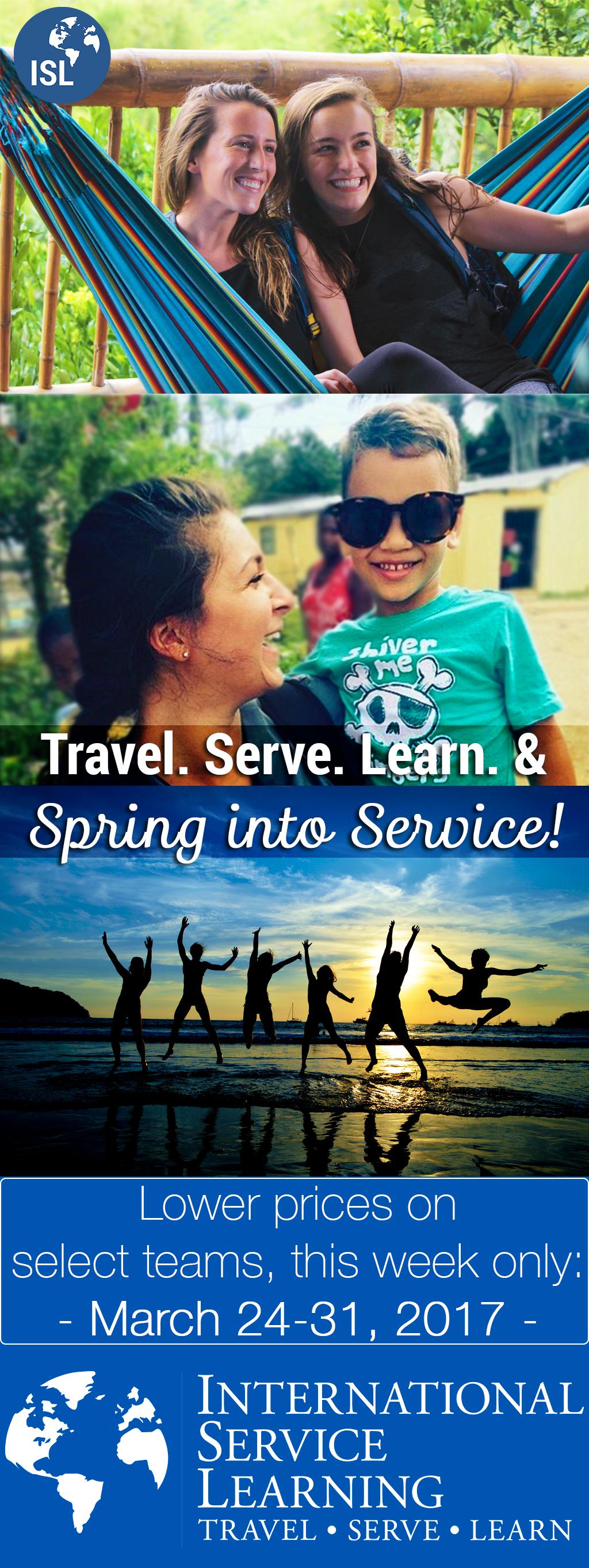 """""""Spring Into Service"""" Sale ISL in 2020 Adolescent"""