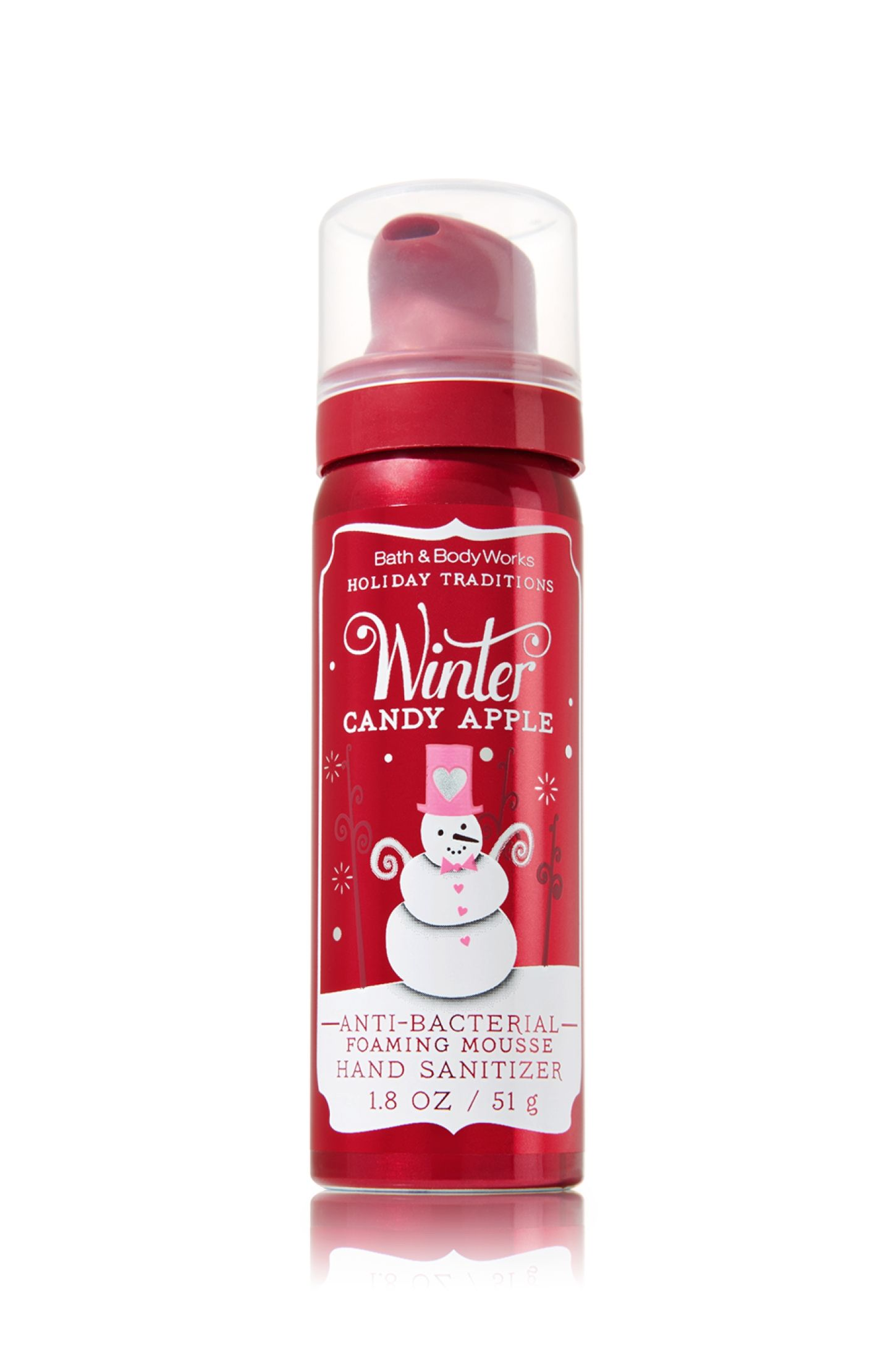Winter Candy Apple Foaming Mousse Anti Bacterial Bath Body