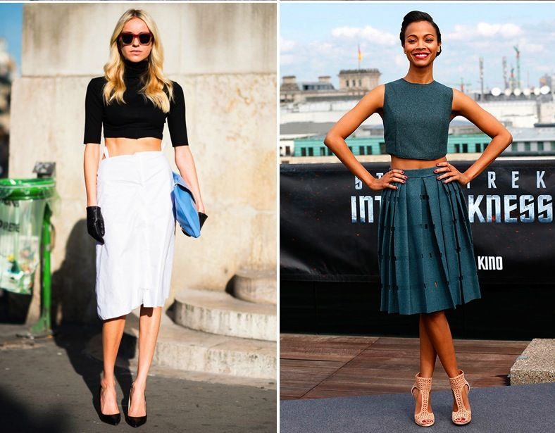 cropped top and high waisted skirt | Gommap Blog