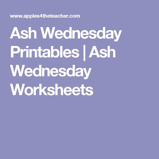 Kids Love These Interactive Ash Wednesday Worksheets For This Thematic Unit Of Study Include A Printable Word Jumble Coloring