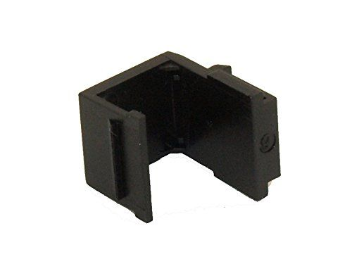 MyCableMart Wall plate: Keystone Jack - Blank Insert, Black