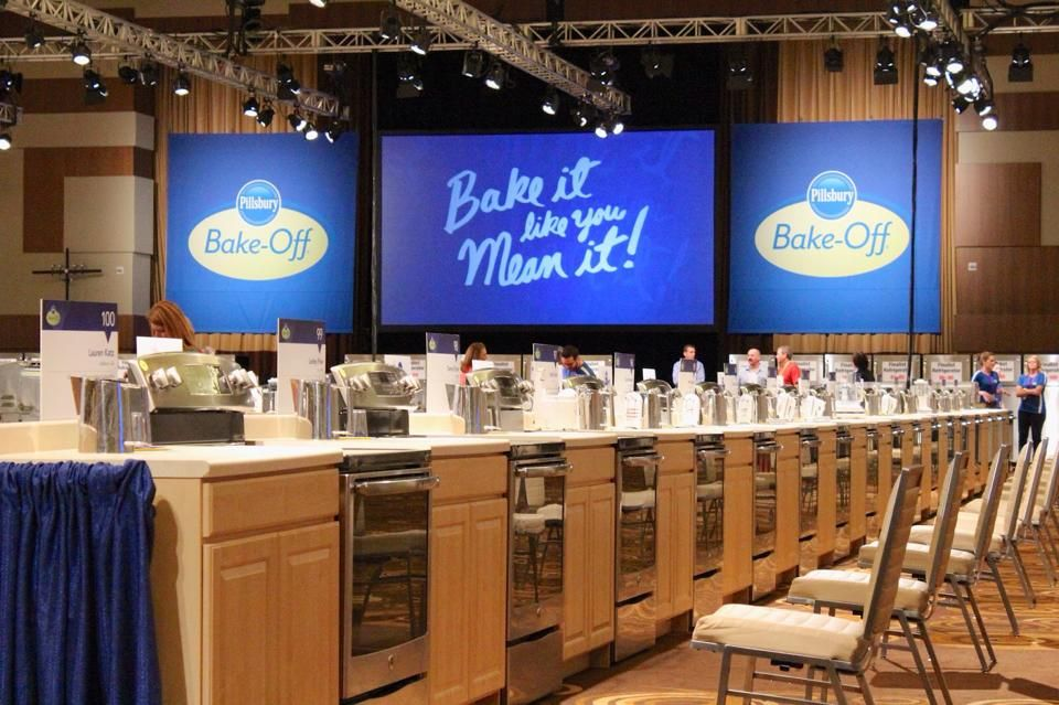 Set up for the Pillsbury Bake Off at the Aria, Las Vegas.  I guess the chairs are for waiting when the cake is in the oven.