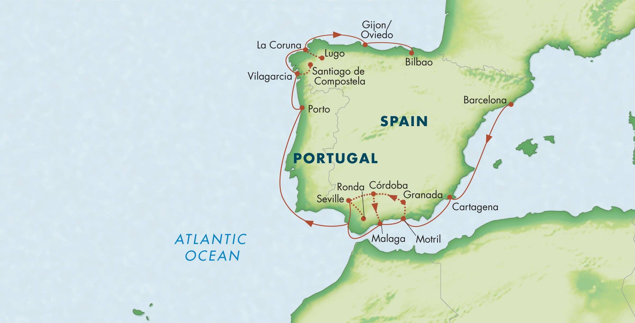 Iberian Peninsula map   Iberian peninsula, Small ship ...