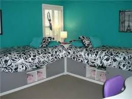Cool Black And Blue Bedroom Perfect Two Sisters Sharing Sisters
