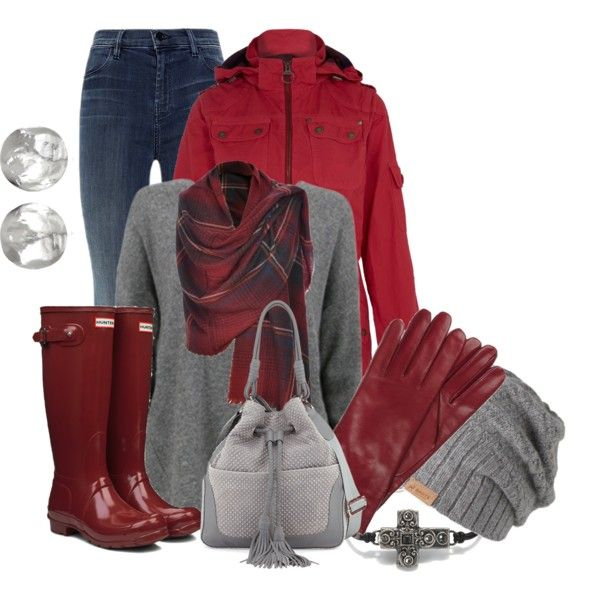A fashion look from December 2014 featuring Barbour jackets, J Brand jeans and Hunter boots. Browse and shop related looks.