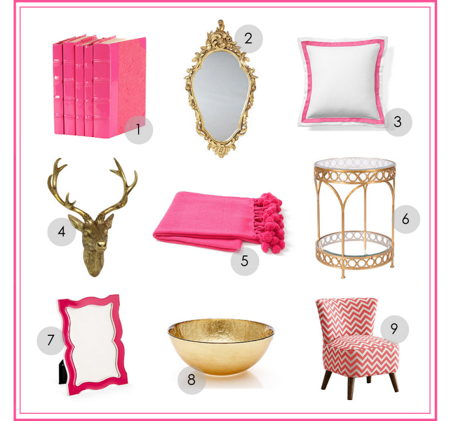 Home Inspiration: Pink + Gold