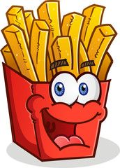 French Fries Cartoon Character Batata Frita Fritas Batata