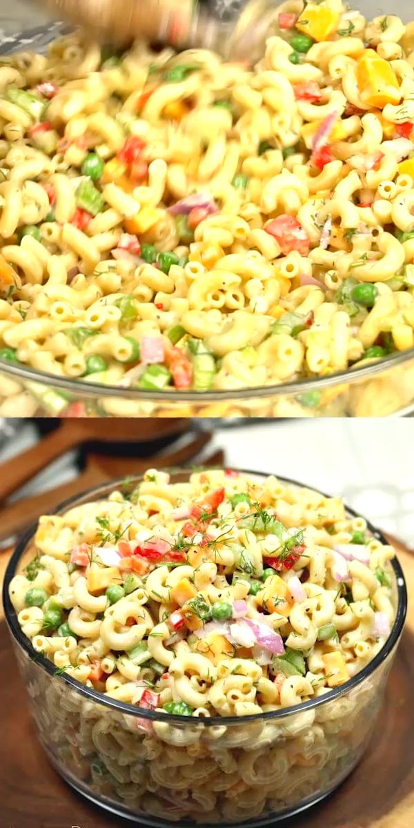 Easy Macaroni Salad #simplehealthydinner