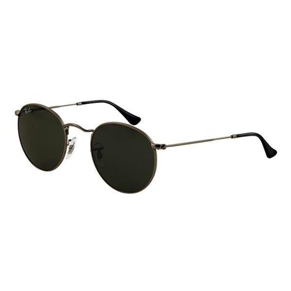 Ray-ban Round Metal Rb 3447   Ray-ban Sunglasses (1,965 MXN) ❤ liked on  Polyvore featuring accessories, eyewear, sunglasses, glasses, oculos, round  glasses ... 6c52ee08d0