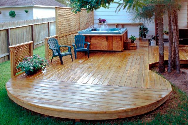 Have a deck with hot tub and while we re at it the for Deck gets too hot