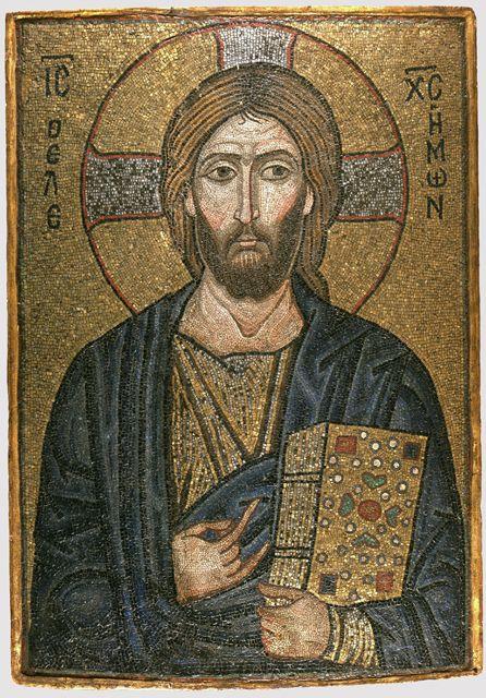 mosaikikone mit christus dem erbarmer konstantinopel 1 viertel 12 jh staatliche museen. Black Bedroom Furniture Sets. Home Design Ideas