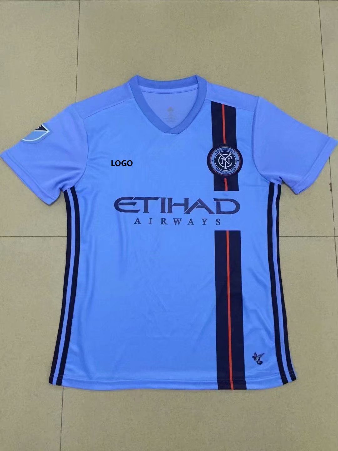 2019 20 Thai Quality With Logo Adult New york city home blue Soccer Jersey  Men ba757f0bc