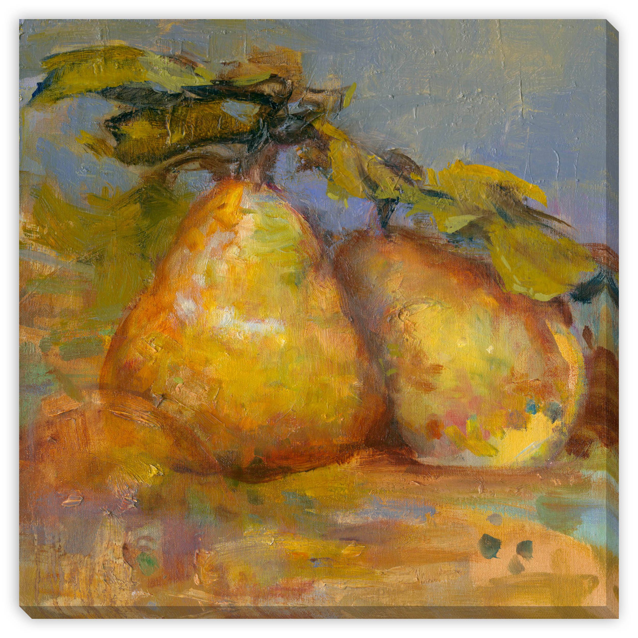 Gallery Direct Sylvia Angeli\'s \'Pair of Pears\' Gallery Wrap Wall Art ...