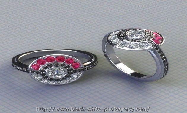 Pokemon Wedding Ring Set