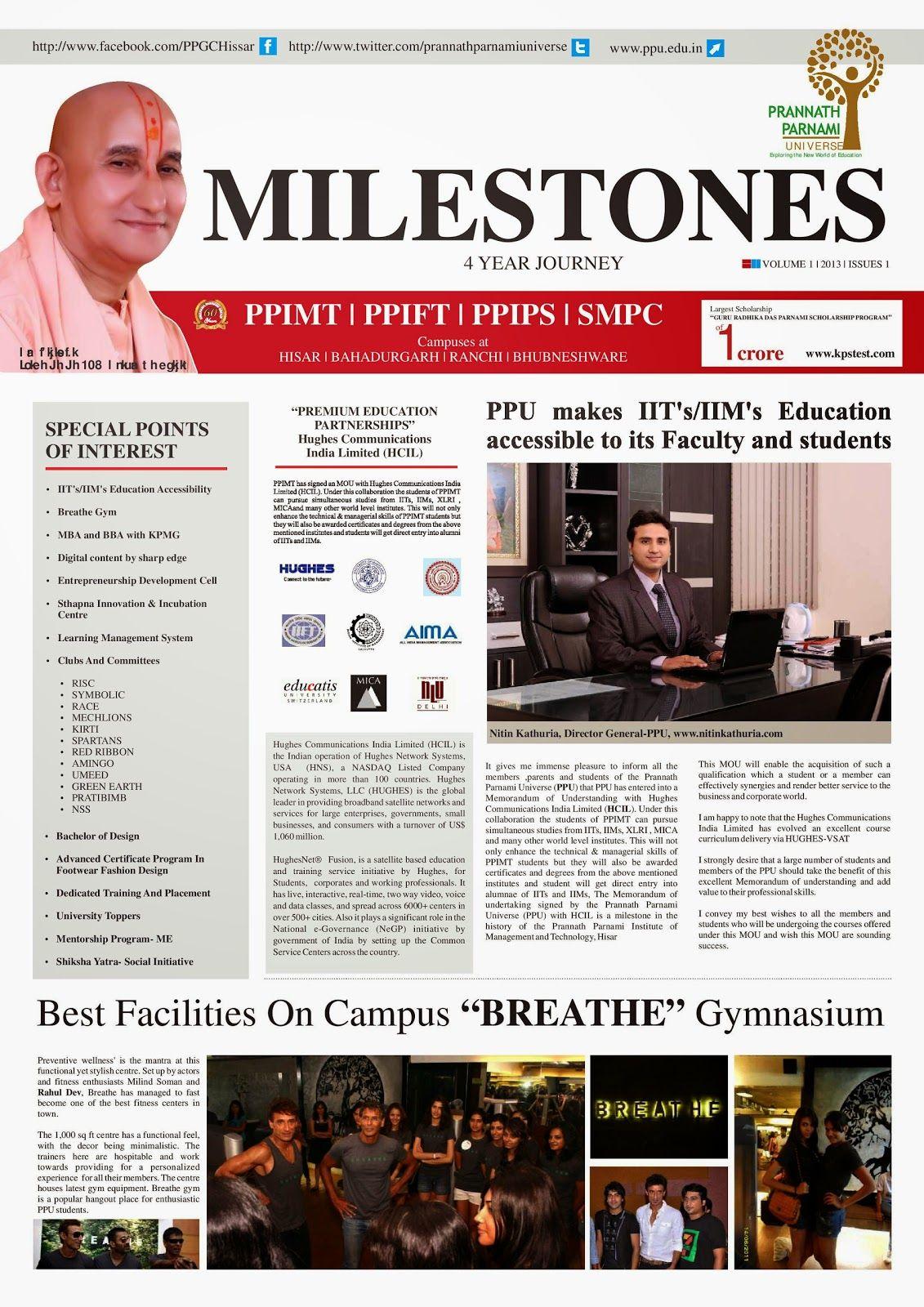 milestone a college newspaper design idea