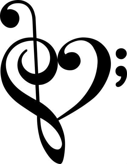 Treble Heart Semicolon Music Heart Music Note Heart Music Tattoos