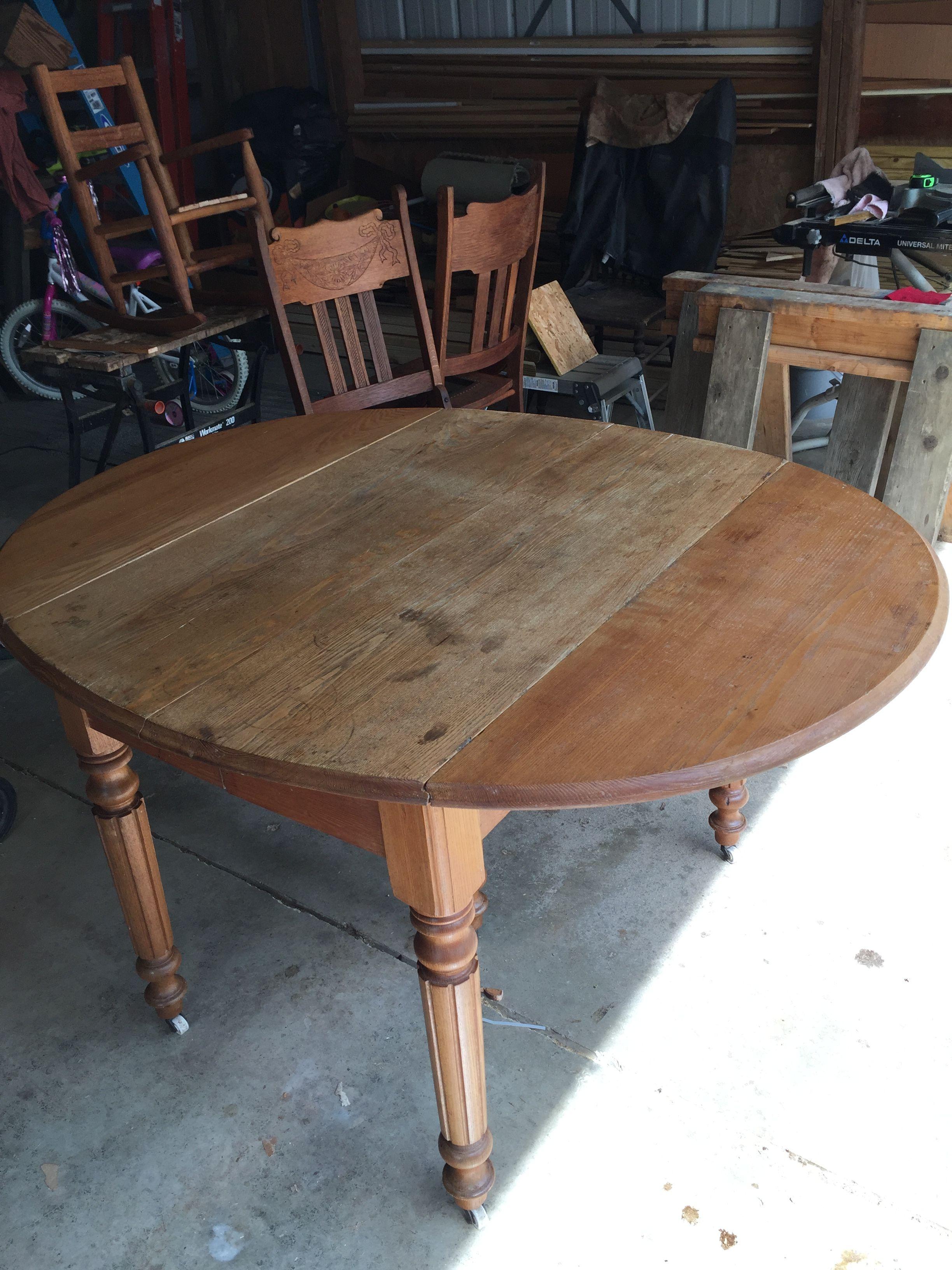 Antique Oak Drop Leaf Table Before And After Vintage Drop Leaf