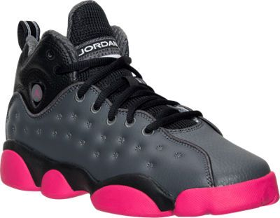 outlet store a3838 2563c Girls  Big Kids  Jordan Jumpman Team II (3.5y-9.5y) Basketball Shoes