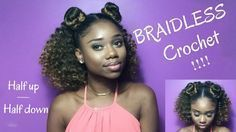 BRAIDLESS CROCHET !! – HALF UP HALF DOWN #Braids half up half down pigtails BRAIDLESS CROCHET !! – HALF UP HALF DOWN, #Braidless #Crochet