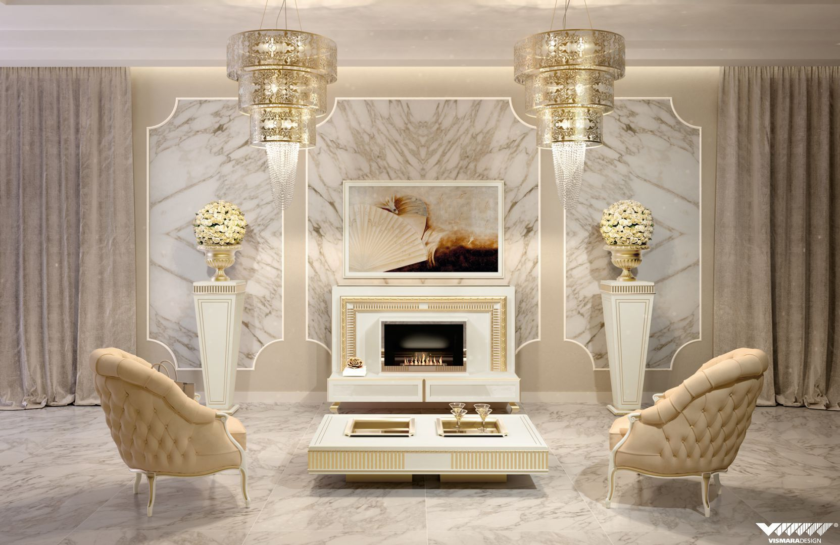 Art Deco Living Room Inspiration Decorating Design
