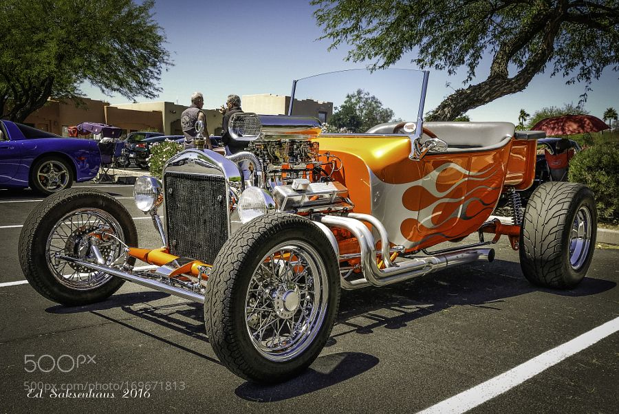 Hot Rods At The Fountain Hills Car Show By Esaksenhaus - Fountain hills car show