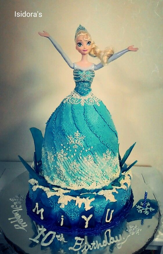 Elsa of Arendelle cake by Isidora's
