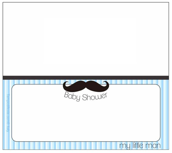Little Man Baby Shower Free Printable Food Tent Cards