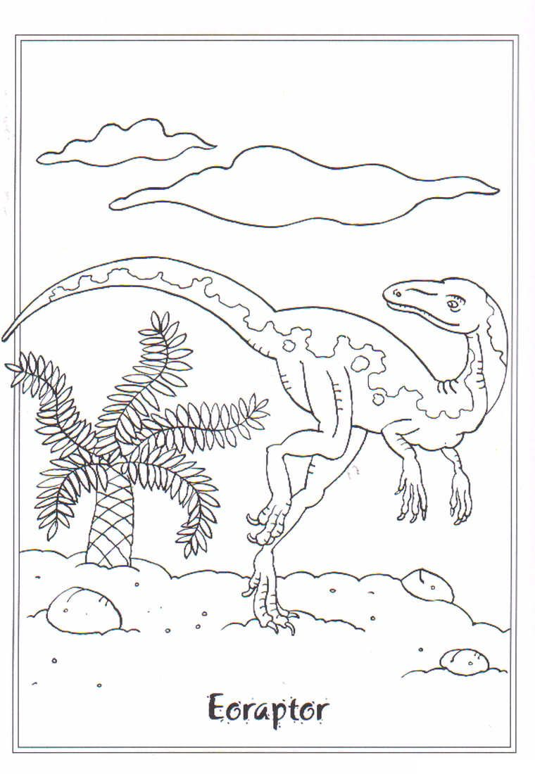 Childrens colouring dinosaurs - Coloring Page Dinosaurs 2 Eoraptor