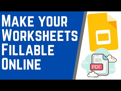 Make Your Pdfs And Worksheets Editable Online Using Google Slides Youtube In 2020 Google Classroom Online Classroom Teaching Technology