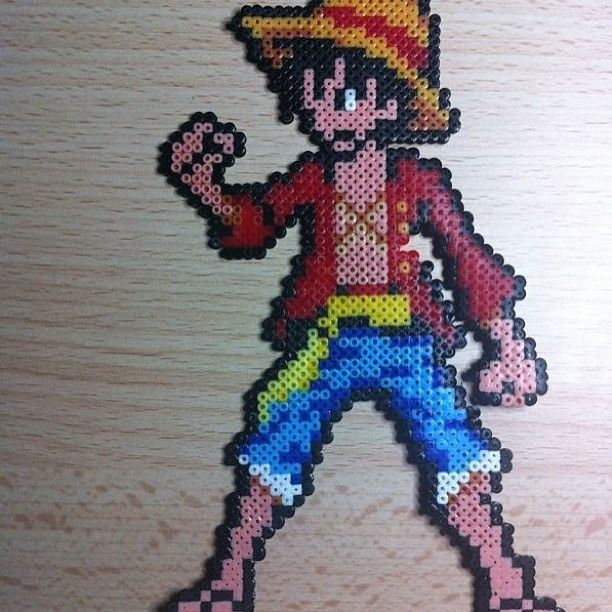 Hervorragend Luffy One Piece hama beads by pandacreations | Perles hama  KZ18