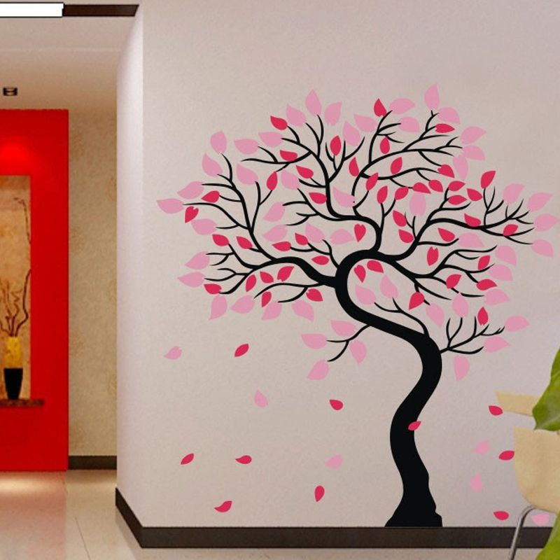Free Shipping Beautiful Tree Home Decor Wall Stickers Removable
