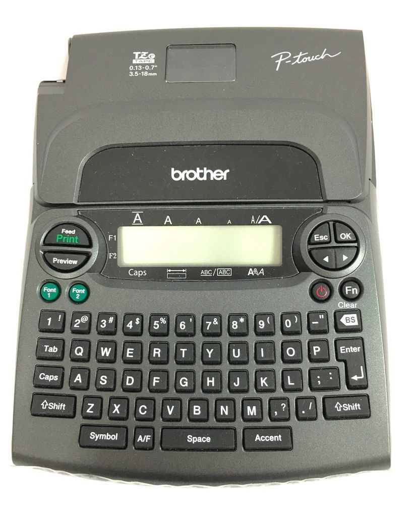 Brother P Touch Electronic Label Maker Pt 1890 Tz Tape Organizing Filing