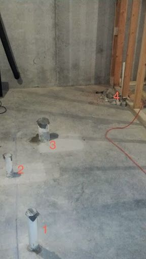 Identifying Basement Bathroom Rough In Fixtures Basement