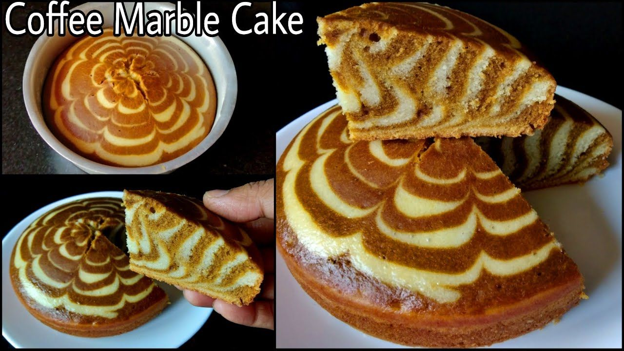 Coffee Marble Cake Eggless Coffee Cake Without Oven Cocoa Powder Butter Paper Condensed In 2020 Eggless Coffee Cake Recipe Eggless Marble Cake Recipe Marble Cake