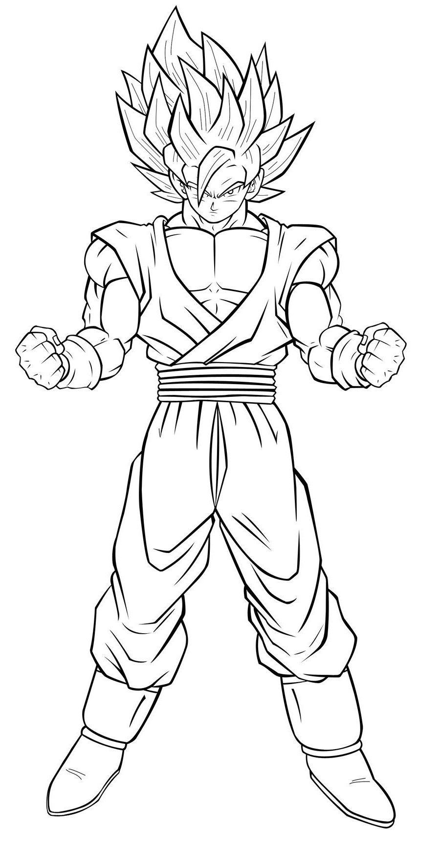 Coloriage Goku Ultra Instinct