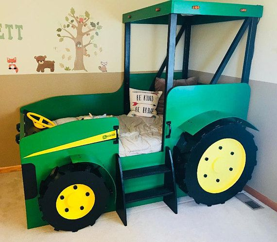 Tractor Bed PLANS Pdf Format Create A Farm Themed Bedroom For Delectable Tractor Themed Bedroom