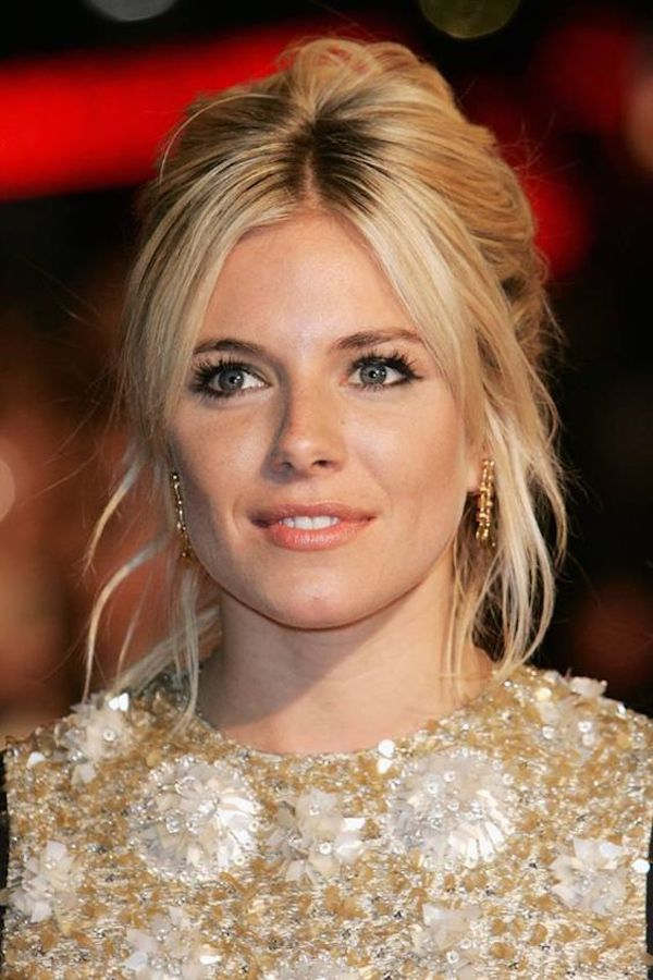 Bridal bangs - Curtain bangs with wedding updos, loose wavy hair