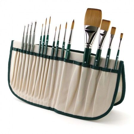 The American Journey Combo Brush Set Comes With 12 American Journey Synthetic Brushes And 4 Fritch Scrubbers Artist Workspace Brush Set Art Museum Architecture