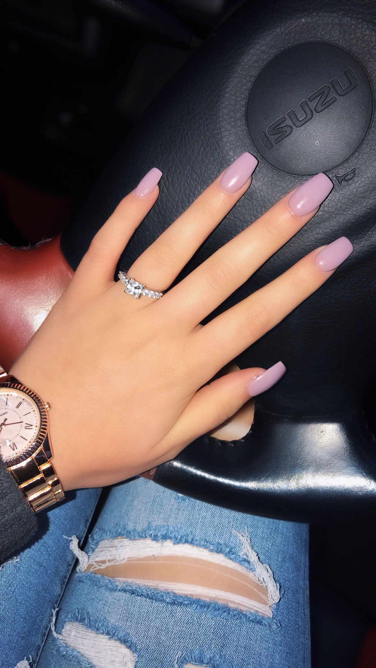 Light Pink Nails Coffin Short