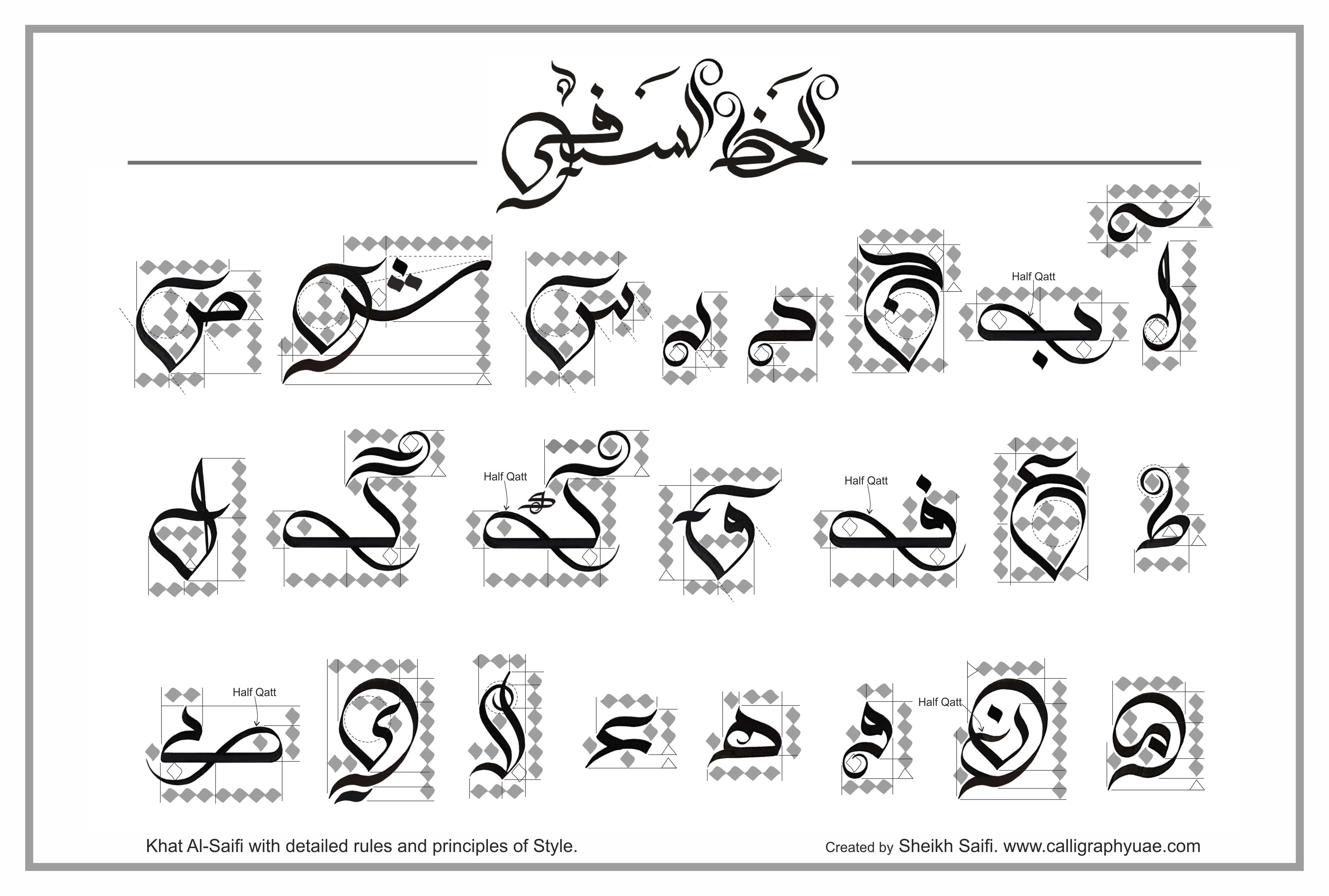Urdu Calligraphy Font Free Download Modern Arabic Calligraphy Font Khat Al Saifi With Detailed Rules