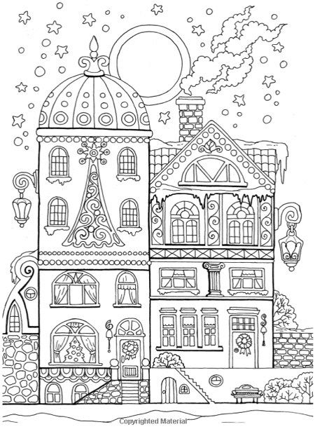 22 christmas coloring books to set the holiday mood for Christmas town coloring pages