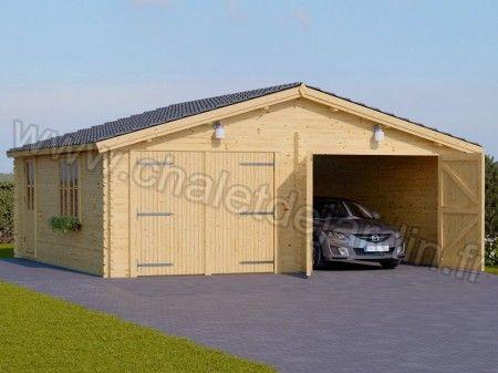 Garage en bois 600x600 44mm, 36m² DOUBLE Abris de jardin, garages