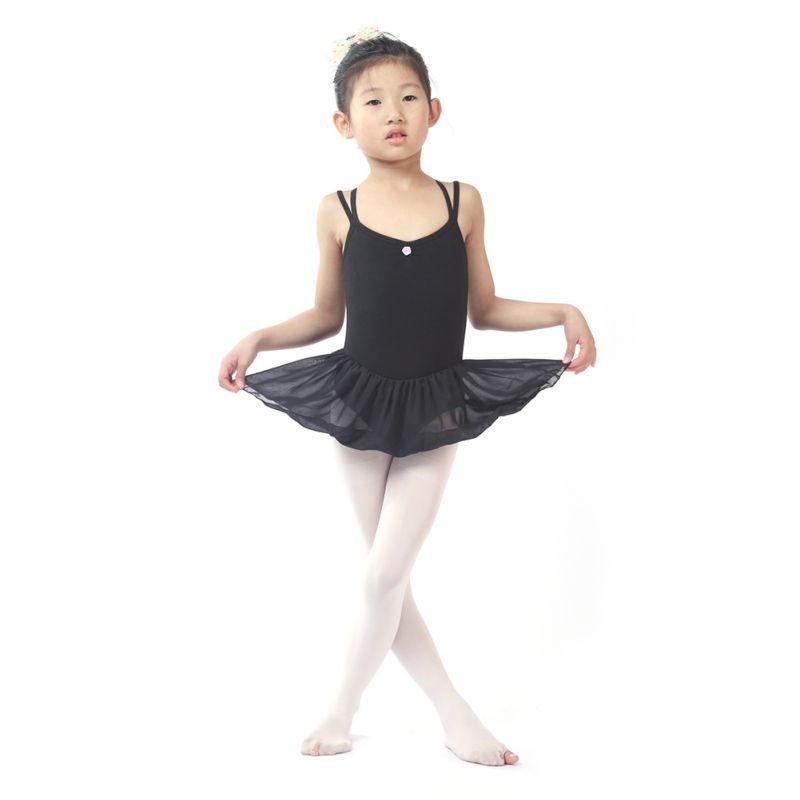 Girls Gymnastics Ballet Dance Dress Toddler Kids Leotard Tutu Dancewear Costume