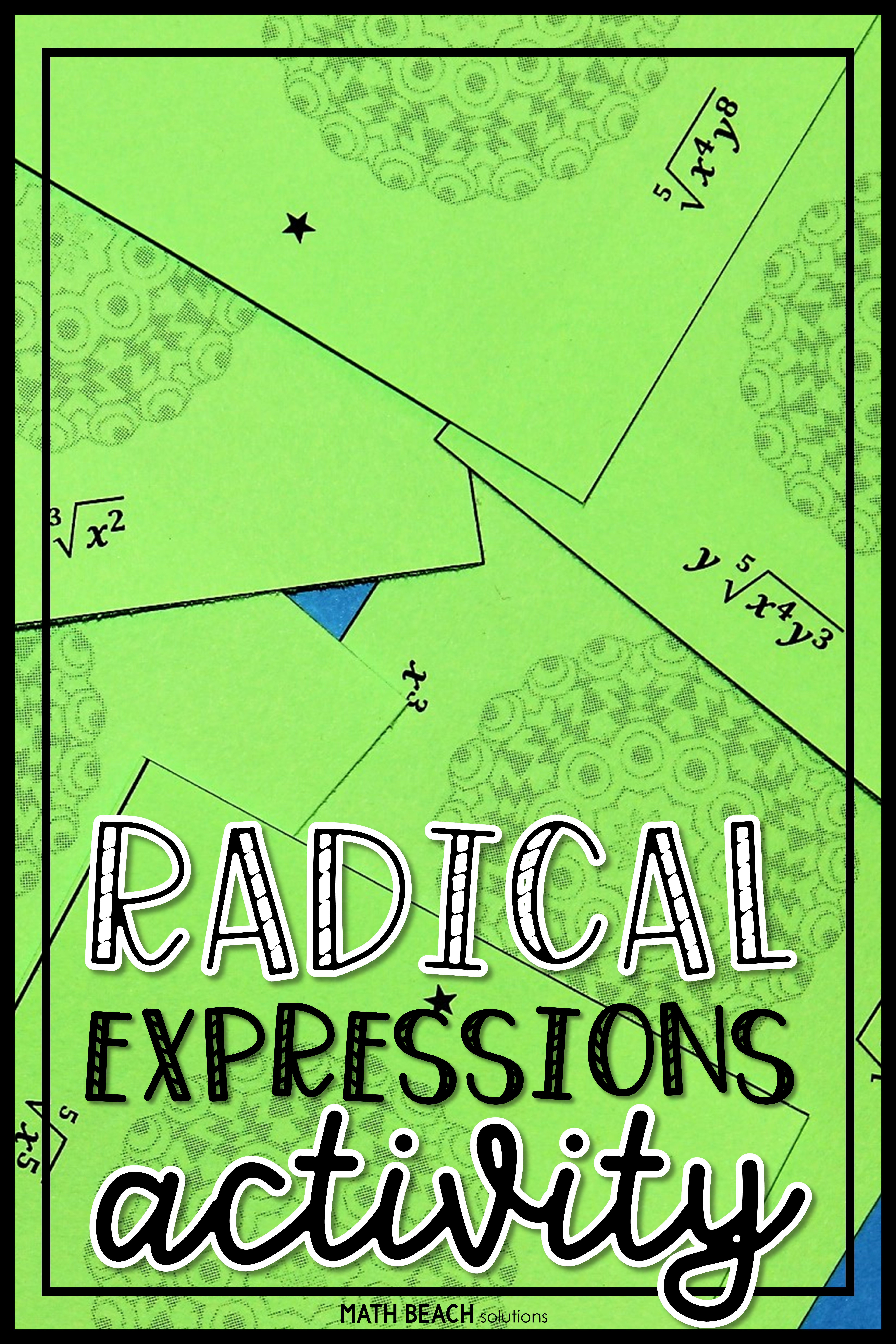 This Puzzle Makes A Great Worksheet Alternative Students Will Simplify R Radical Expressions Simplifying Radical Expressions Simplifying Algebraic Expressions
