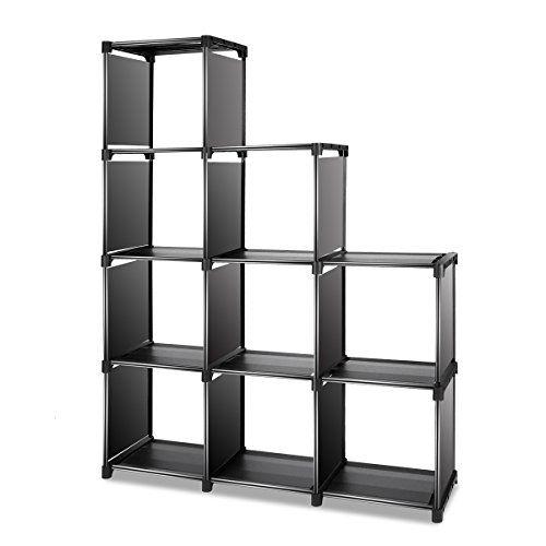 TomCare Cube Storage 9 Closet Organizer Shelves Bookcase Bookshelf Clothes Cabinets