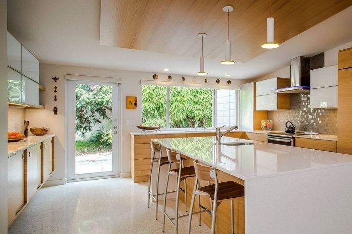 ▷ 1001 + exemples pharamineux de la cuisine en bois maison Mid - Peindre Du Carrelage Mural De Cuisine