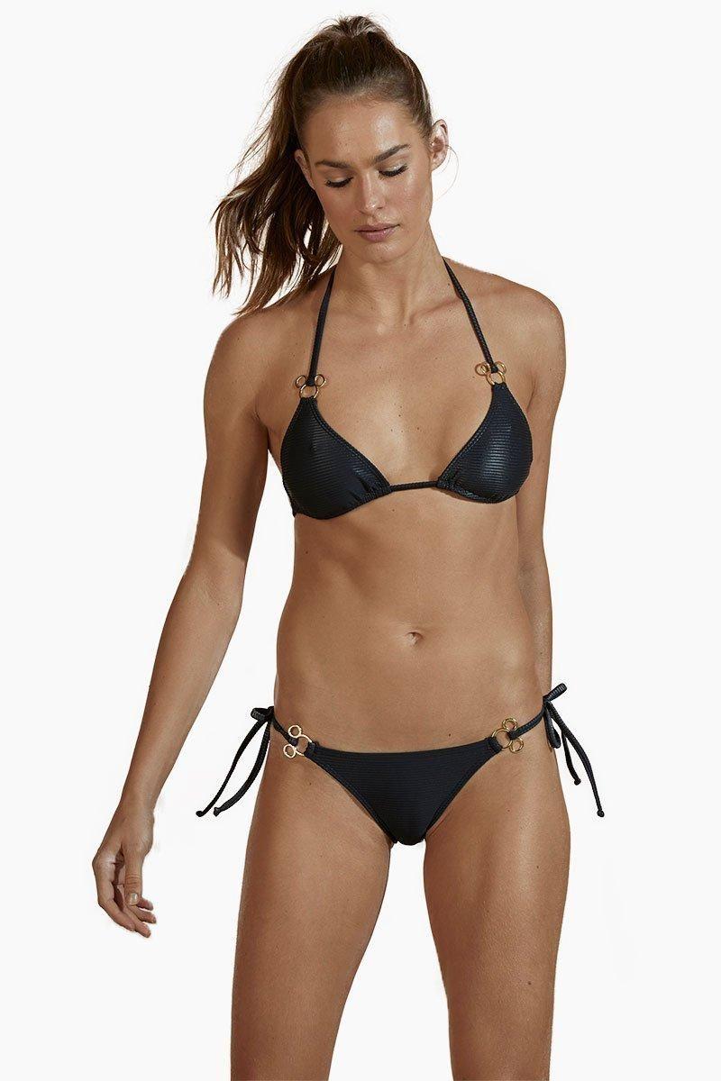9636bcd526  EnvyWe  Bikini -  AGUA DE COCO Triangle Mickey Metal Bikini Top - Black -  EnvyWe.com