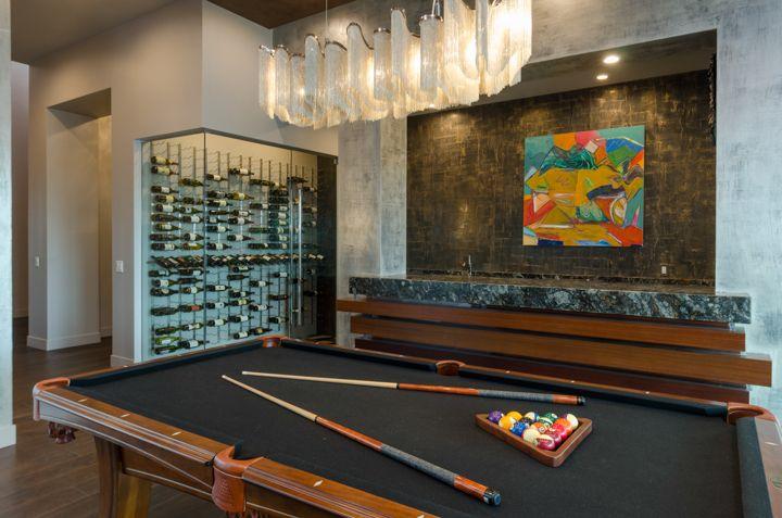 Billiards Room - Architectural Design by I PLAN, LLC