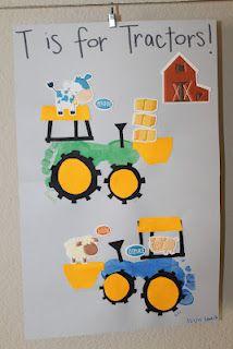 c166c872882f65c11f6e587846e0aba9 T Letter Craft Tractor Template on preschool horse, for preschoolers, free printable alphabet,