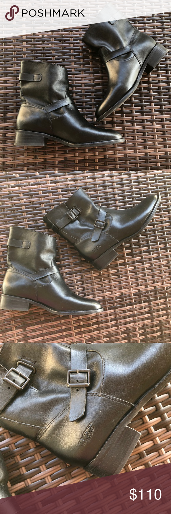 734883bf66a New Ugg Fletcher black leather boot Brand new without original box.A ...